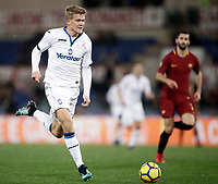 Calcio, Serie A: AS Roma - Atalanta, Roma, stadio Olimpico, 6 gennaio 2018.<br /> Atalanta's Andreas Cornelius in action during the Italian Serie A football match between AS Roma and Atalanta at Rome's Olympic stadium, January 6 2018.<br /> UPDATE IMAGES PRESS/Isabella Bonotto
