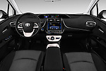Stock photo of straight dashboard view of 2016 Toyota Prius Comfort 5 Door Hatchback Dashboard