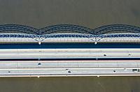 Europabrücke und Alte Harburger Elbbrücke über die Süderelbe: EUROPA, DEUTSCHLAND, HAMBURG, (EUROPE, GERMANY), 25.06.2011: Europabrücke und Alte Harburger Elbbrücke über die Süderelbe