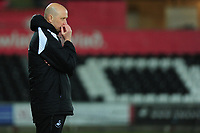 Pictured: Cameron Toshack head coach of Swansea City in action during the Premier League 2 match between Swansea City and West Ham United at the Liberty Stadium, Swansea, Wales, UK <br /> Monday 11 March 2019
