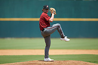 Philip Abner (19) of Charlotte Christian HS in Charlotte, NC playing for the Arizona Diamondbacks scout team in action during the East Coast Pro Showcase at the Hoover Met Complex on August 2, 2020 in Hoover, AL. (Brian Westerholt/Four Seam Images)