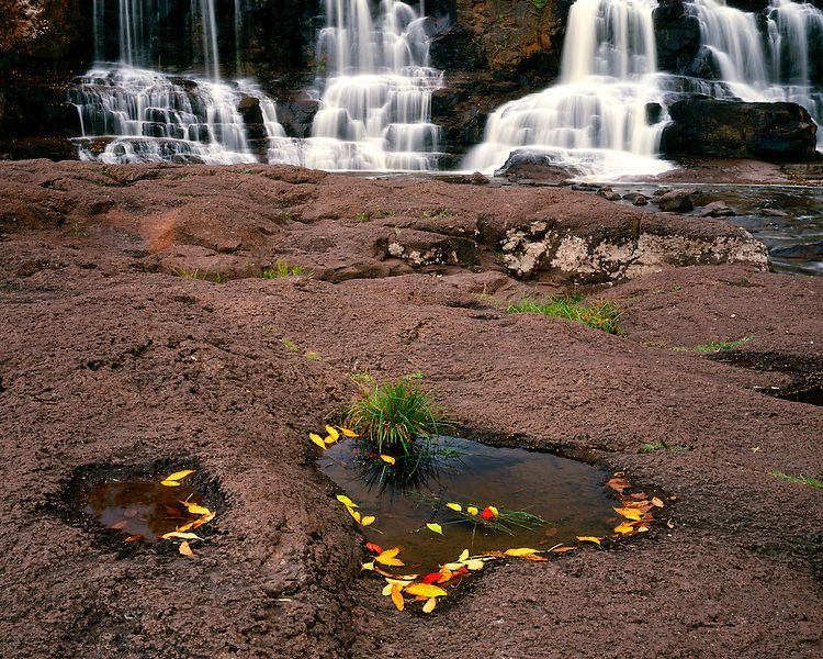 The Lower Falls in early fall; Gooseberry Falls State Park, MN
