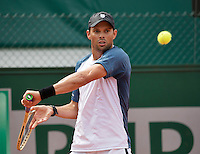 Paris, France, 22 June, 2016, Tennis, Roland Garros, Doubles : Mike Bryan (USA)<br /> Photo: Henk Koster/tennisimages.com