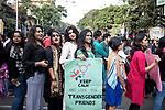 Dipmalya(Diya) participates in a pride walk in Kolkata, India. Arindam Mukherjee