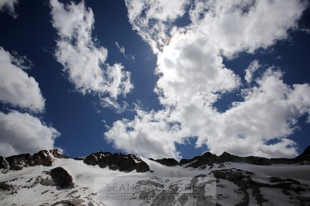 The Dagu Glacier park on the south-east edge of the Tibetan Plateau in Sichuan Province, western China. The glacier has been shrinking in recent years, as a result of rising temperatures in the region.