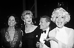 Coleen Dewhurst, Angela Lansbury, Jerry Herman and Carol Channing during 43rd Annual Tony Awards on 6/4/1989 at Lunt-Fontanne Theater & New York Hilton in New York City.