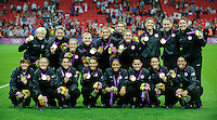 London, England - Thursday, August 9, 2012: The USA defeated Japan 2-1 to win the London 2012 Olympic gold medal at Wembley Arena. .