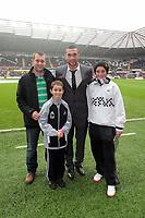 Pictured: Steven Caulker (C). Saturday 31 December 2011<br /> Re: Premier League football Swansea City FC v Tottenham Hotspur at the Liberty Stadium, south Wales.