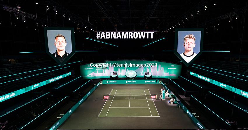 Rotterdam, The Netherlands, 6 march  2021, ABNAMRO World Tennis Tournament, Ahoy,  Photo: www.tennisimages.com/henkkoster
