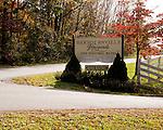 The entrance sign at the main gate entering Barboursville Vineyards.