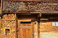 Winter logs - Grindelwald - Berenese Oberland - Switzerland