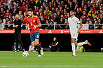 Spain's Saul Niguez and England's Marcus Rashford during UEFA Nations League 2019 match between Spain and England at Benito Villamarin stadium in Sevilla, Spain. October 15, 2018. (ALTERPHOTOS/A. Perez Meca)