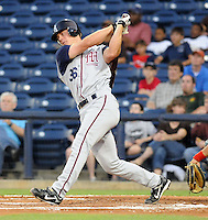 10 April 2008: John Hester of the Mobile BayBears, Class AA affiliate of the Arizona Diamondbacks, in a game against the Mississippi Braves at Trustmark Park in Pearl, Miss. Photo by:  Tom Priddy/Four Seam Images