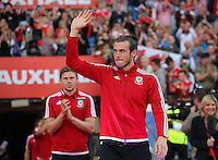 Pictured: Gareth Bale at the Cardiff City Stadium Friday 08 July 2016<br />