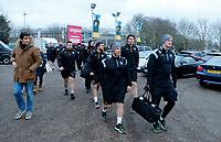 Photo: Richard Lane/Richard Lane Photography. Harlequins v Wasps.  European Rugby Champions Cup. 13/01/2018. Wasps arrive at The Stoop.