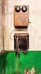 Vintage Crank Telephone.  At steam geneator,steam turbine, Seattle, WA, Georgetown Steam Plant, a National Historic Landmark in Seattle, WA USA
