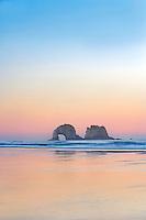 Sunrise with Arch Rock. Rockaway Beach. Oregon