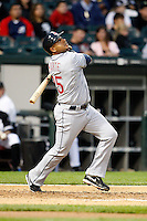 August 7, 2009: First Baseman Andy Marte (25) of the Cleveland Indians at bat during a game vs. the Chicago White Sox at U.S. Cellular Field in Chicago, IL.  The Indians defeated the White Sox 6-2.  Photo By Mike Janes/Four Seam Images