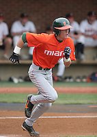 Ryan Jackson of the Miami Hurricanes vs. the Virginia Cavaliers: March 24th, 2007 at Davenport Field in Charlottesville, VA.  Photo by:  Mike Janes/Four Seam Images