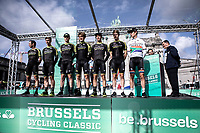 Team Mitchelton Scott at the pre race team presentation. <br /> <br /> <br /> 99th Brussels Cycling Classic 2019<br /> One Day Race: Brussels > Brussels 189.4km<br /> <br /> ©kramon