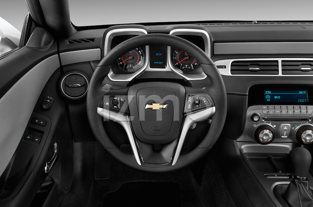 Steering wheel view of a 2013 Chevrolet Camaro Coupe 1LS