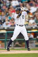 Curtis Granderson of the Detroit Tigers at bat versus the New York Yankees at Comerica Park April 27, 2009 in Detroit, Michigan.  Photo by Brian Westerholt / Four Seam Images