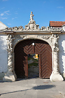 The two Moors House (Két mór ház).  Rustic Baroque architecture - Sopron, Hungary