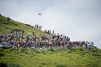 fans awaiting the peloton up the Port de Balès (HC/1755m/11.7km/7.7%)<br /> <br /> 2014 Tour de France<br /> stage 16: Carcassonne - Bagnères-de-Luchon (237km)