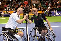 17-12-11, Netherlands, Rotterdam, Topsportcentrum, Rolstoel finalisten Ronald Vink(L) en Maikel Scheffers