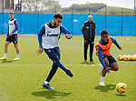 09.05.2019 Rangers training: Connor Goldson and Dapo Mebude