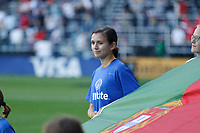 Saint Paul, MN - Tuesday September 03, 2019 : Flag holder prior to the USWNT 2019 Victory Tour match versus Portugal at Allianz Field, on September 03, 2019 in Saint Paul, Minnesota.