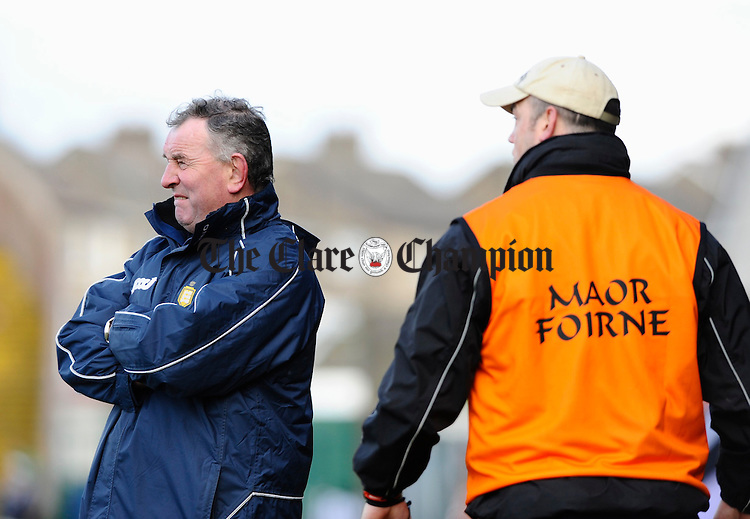 Clare manager Mike Mc Namara looks on as his team are beaten by Limerick. Photograph by John Kelly.