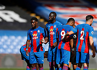 5th September 2020; Selhurst Park, London, England; Pre Season Friendly Football, Crystal Palace versus Brondby; Cheikhou Kouyate and Jeffrey Schlup of Crystal Palace looking on