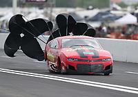 Apr 12, 2019; Baytown, TX, USA; NHRA pro mod driver Alex Laughlin during qualifying for the Springnationals at Houston Raceway Park. Mandatory Credit: Mark J. Rebilas-USA TODAY Sports