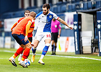 21st November 2020; Kenilworth Road, Luton, Bedfordshire, England; English Football League Championship Football, Luton Town versus Blackburn Rovers; Ben Brereton of Blackburn Rovers trying to get down the line