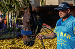DEL MAR, CA  AUGUST 1: #3 As Time Goes By, ridden by Mike Smith, in the paddock before the Clement L. Hirsch Stakes (Grade 1) Breeders Cup Win and You're In Distaff Division on August 1, 2021 at Del Mar Thoroughbred Club in Del Mar, CA.