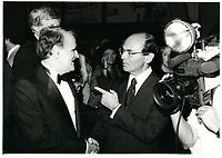 Serge Losique et Leo Kolber <br /> au Festival des Films du Monde 1985<br /> <br /> <br /> PHOTO : Agence Quebec Presse