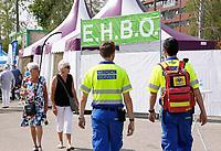 Nederland  Almere  2017.  De eerste editie van het Forever Young Festival, een festival voor senioren.  EHBO tent.    Foto Berlinda van Dam / Hollandse Hoogte