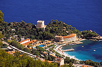 Monaco. Monte Carlo beach, La Vigne, hotels, clubs and sporting facilities..