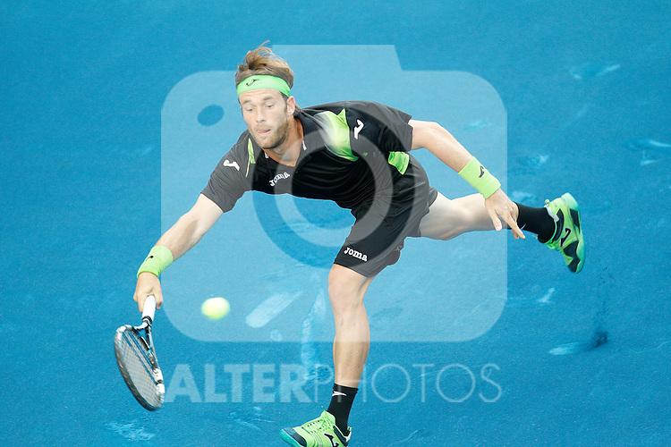 Daniel Gimeno-Traver during Mutua Madrid Open 2012 match on may 8th 2012...Photo: Cesar Cebolla / ALFAQUI