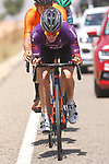 The breakaway featuring Pelayo Sanchez (ESP) Burgos-BH, Oier Lazkano (ESP) Caja Rural-Seguros RGA and Xabier Mikel Azparren (ESP) Euskaltel-Euskadi during Stage 5 of La Vuelta d'Espana 2021, running 184.4km from Tarancón to Albacete, Spain. 18th August 2021.    <br /> Picture: Luis Angel Gomez/Photogomezsport   Cyclefile<br /> <br /> All photos usage must carry mandatory copyright credit (© Cyclefile   Luis Angel Gomez/Photogomezsport)