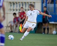 Cat Whitehill prepare a kick. USA defeated Japan 4-1 at Spartan Stadium in San Jose, CA on July 28, 2007.