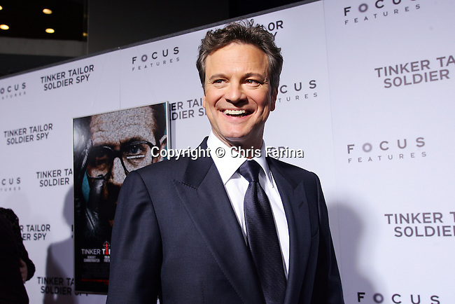"""December 6, 2011, Hollywood,Ca.  ---  Actor Colin Firth attends the Los Angeles premiere of """"Tinker, Tailor, Soldier, Spy"""" at ArcLight Cinemas Cinerama Dome in Hollywood,Ca.  --- Christopher Farina"""
