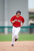 GCL Red Sox shortstop Imeldo Diaz (10) running the bases during the second game of a doubleheader against the GCL Rays on August 9, 2016 at JetBlue Park in Fort Myers, Florida.  GCL Rays defeated GCL Red Sox 9-1.  (Mike Janes/Four Seam Images)