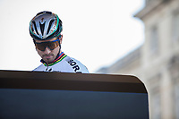 Peter Sagan (SVK/Bora Hansgrohe) siging in at the start<br /> <br /> 115th Paris-Roubaix 2017 (1.UWT)<br /> One day race: Compiègne > Roubaix (257km)
