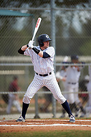 Western Connecticut Colonials left fielder Ben Stone (39) at bat during the second game of a doubleheader against the Edgewood College Eagles on March 13, 2017 at the Lee County Player Development Complex in Fort Myers, Florida.  Edgewood defeated Western Connecticut 3-1.  (Mike Janes/Four Seam Images)