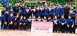 Team Japan pose for photo with metals during the prize presentation of FIVB Volleyball World Grand Prix - Hong Kong 2017 on 23 July 2017, in Hong Kong, China. Photo by Yu Chun Christopher Wong / Power Sport Images