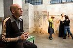 Milano 20/12/2007. Antonio Marras al lavoro nel suo showroom. Antonio Marras at work in his showroom