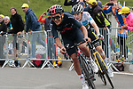 Richard Carapaz (Ecu) Ineos Grenadiers and Jonas Vingegaard (DEN) Jumbo-Visma on the final climb of Luz-Ardiden during Stage 18 of the 2021 Tour de France, running 129.7km from Pau to Luz-Ardiden, France. 15th July 2021.  <br /> Picture: Colin Flockton   Cyclefile<br /> <br /> All photos usage must carry mandatory copyright credit (© Cyclefile   Colin Flockton)