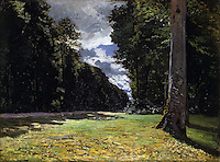 Claude Monet - Le Pave de Chailly in the Forest of Fontainebleau (1865). Copenhague, Ordrupgaard.